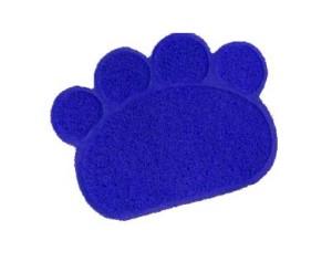 Felpudo Tapete Antideslizantes Huella Azul