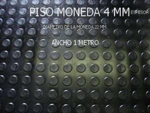 Piso Goma Monedas 4 mm